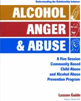 Alcohol, Anger & Abuse Lesson Guide (AAA-LG)