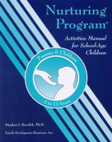 Parents & Their School-Age Children 5-11 Years - Activities Manual for Children (NP1AMC)