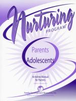 Parents & Adolescents - Activities Manual for Parents with Adolescents (NP3AMP)