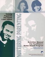 Teen Parents & Their Children - Activities Manual - Home (NP4AMTH)