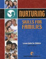 Nurturing Skills for Families - Lesson Guide for Children (NSF-LGC)