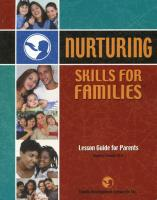 Nurturing Skills for Families - Lesson Guide for Parents (NSF-LGP)