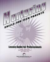 Nurturing Skills for Teen Parents - Lesson Guide for Professionals (NSTLGP)