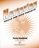 Nurturing Skills for Teen Parents - Parent Handbook (NSTPHB)