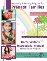 Prenatal - Home Visitor's Instructional Manual W/Forms CD for Teaching Parents (PREHVIM-CD)